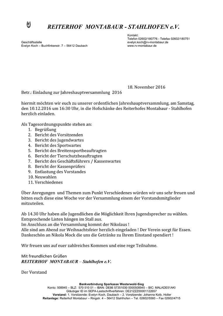 reitverein reiterhof montabaur-stahlhofen e.v. - aktuelles, Einladung